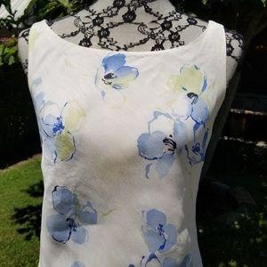 Just In🍋Ann Taylor linen & silk maxi dress